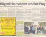 SWE, Lokaltidningen Hoganas - Artists from Hoganas visited Prague, 2006